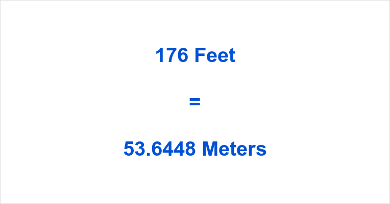 176 Feet in Meters