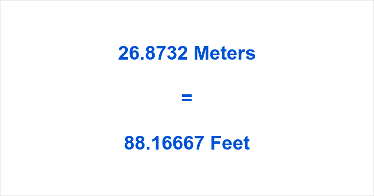 26.8732 Meters to Feet