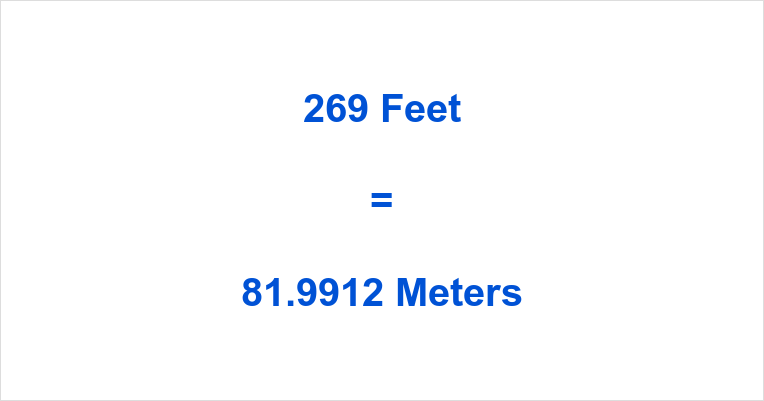 269 Feet in Meters