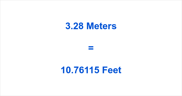 Meters To Feet M In Feet Meter In