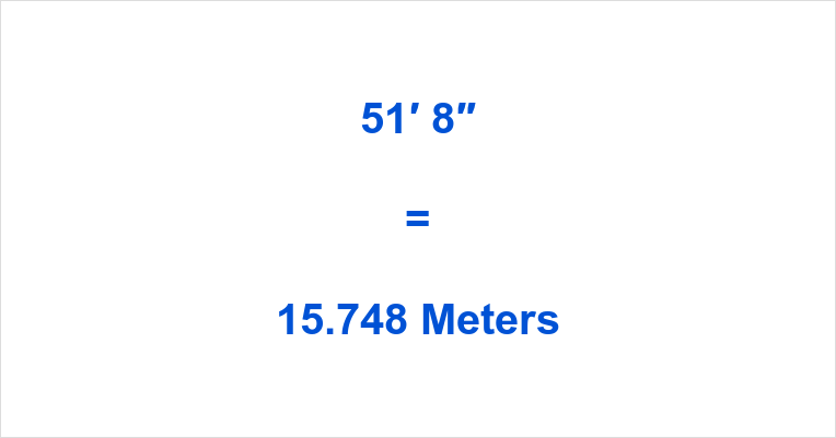 51 8 To Meters What Is 51 Feet 8 In Meters Your browser does not support the canvas element. feet to meter