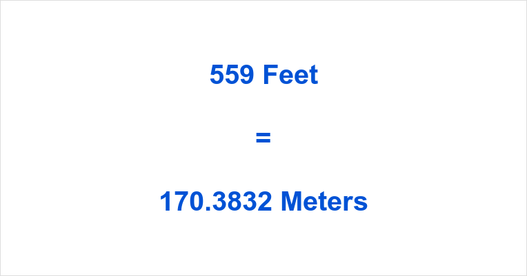 559 Feet in Meters