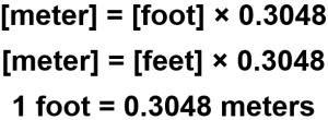 Feet to Meter